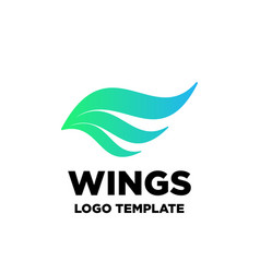 Wings ornament abstract decoration icon element vector