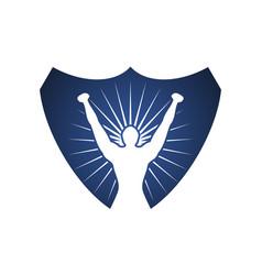 Winner shield vector