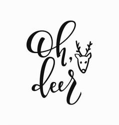 winter christmas new year lettering typography vector image