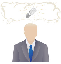 Worker or businessman with idea vector