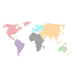 world map mosaic of small crosses in defferent vector image