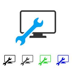 Wrench configure desktop flat icon vector