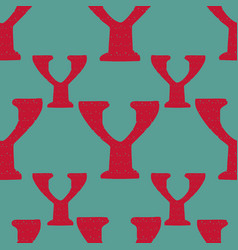 Y from alfabet repeat pattern print background vector