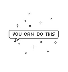 You can do this in speech bubble 8-bit pixel art vector