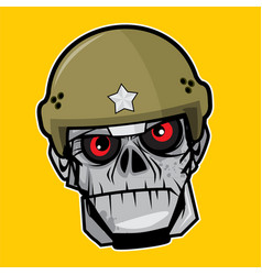 Zombie head - the soldier vector