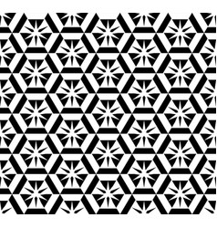 abstract black and white pattern vector image vector image