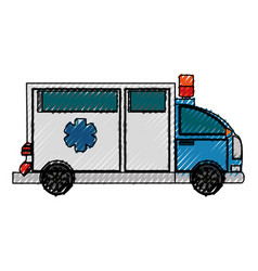 Ambulance emergency vehicle vector