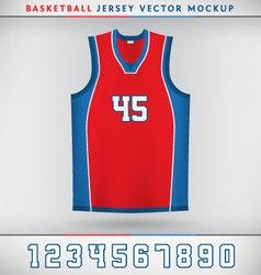 Basketball Jesrsey vector image