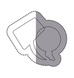 figure squere and round chats bubbles icon vector image