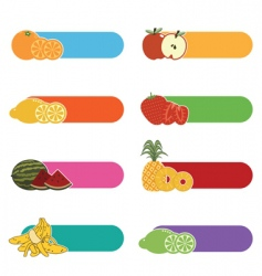 fruit tabs vector image vector image