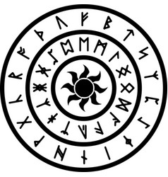 Ring with runes vector