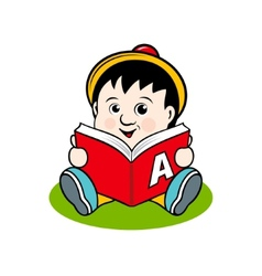 Small child with a book vector image