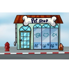 A pet shop vector image vector image