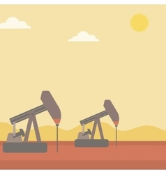 Background of oil derrick vector image