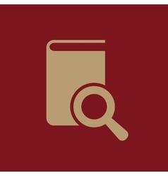 Book search icon design library search vector