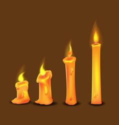 candle frame burn collection set vector image