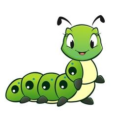 Cartoon Caterpillar vector image vector image