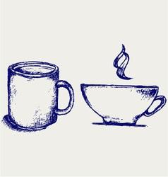 Cup drink vector image vector image