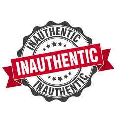 inauthentic stamp sign seal vector image