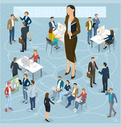 isometric people set vector image