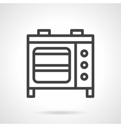 Microwave oven black line icon vector image vector image