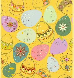 ornamental easter eggs vector image