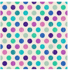 seamless retro polka dots background vector image vector image
