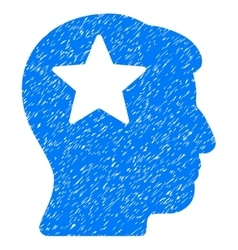 Star Head Grainy Texture Icon vector image vector image