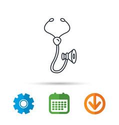 Stethoscope icon medical doctor equipment vector