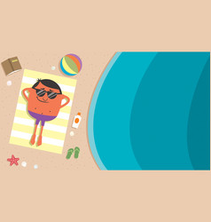 summer beach man vector image vector image