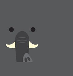 cute elephant head vector image
