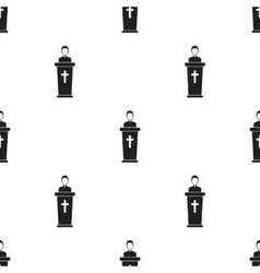 Priest icon in black style isolated on white vector image vector image