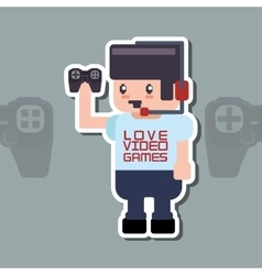 Videogame icon design vector image vector image