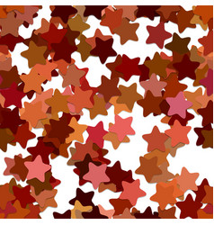 Abstract seamless random star background pattern vector