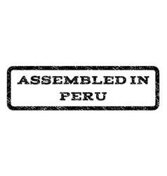 assembled in peru watermark stamp vector image