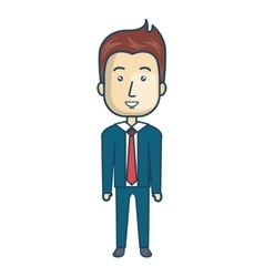businessman character avatar isolated vector image