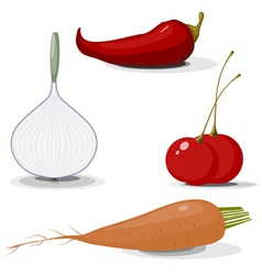 Collection of vegetables EPS10 vector image vector image