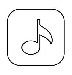 figure symbol music icon vector image vector image