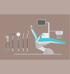 flat health care dentist chair research medical vector image