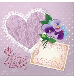 heart lace violet 380 vector image vector image