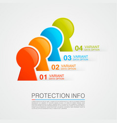 protection info vector image vector image