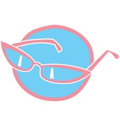 Retro glasses vector