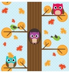 Seamless autumn pattern vector image