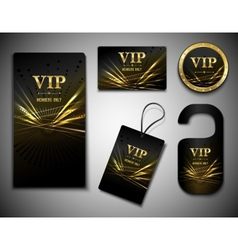 Vip cards set vector image