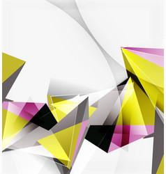 3d triangles and pyramids abstract geometric vector