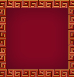 abstract chinese background frame and pattern vector image