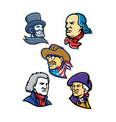 American presidents and statesman mascot vector