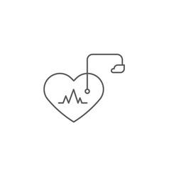 Artificial cardiac pacemaker icon concept vector