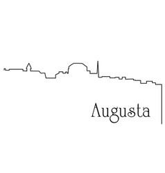 augusta city one line drawing vector image