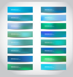 Banners templates vector